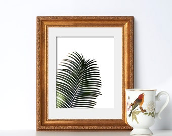 Black and White Fern Art Digital Download Printable Art Poire Noir Et Blanc Tropical Print Jungle Art Plant Art Botanical Garden Green House