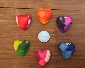 Heart Crayons Party Favors (10 bags) -Art Party