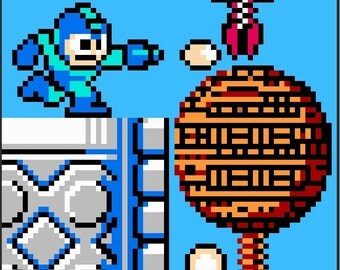 Nintendo Megaman Quilt Pattern