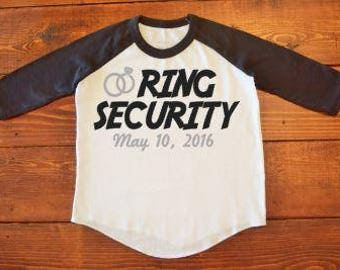 Ring Security Baseball Tee Shirt//Ring Bearer Raglan Tee Shirt//Kids Baseball Shirt//Ring Security Shirt
