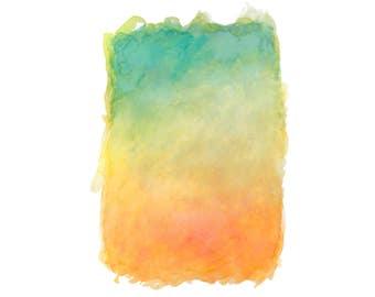 16 x 20 Print - COLOR #24 - Abstract Minimalist Watercolor Print