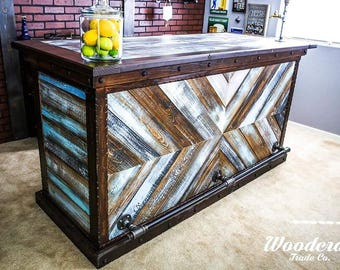 Rustic Re-claimed Wood Bar