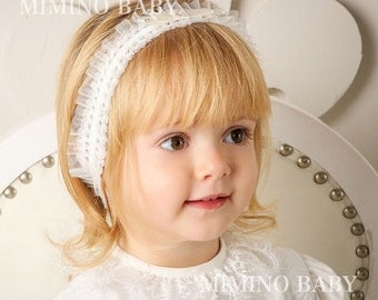 BELLA christening headband