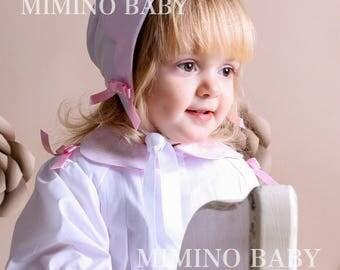 BLESSING hat for baby girl, christening bonnet, baptism hat, christening headband, baby girl baptism gift, custimized christening baby girl