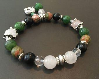 Fertility bracelets Pregnancy Jewelry Beaded bracelets Healing Prosperity Abundance Luck Gift for her Success Yoga Bracelets Rose Quartz
