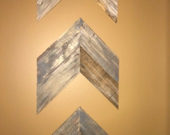 Rustic Chevron Wall Art (Set of 3)