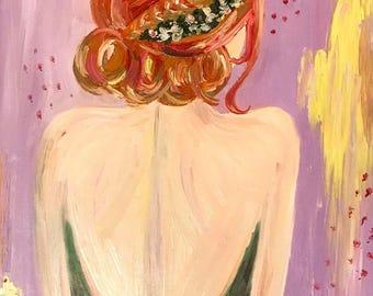 Custom Disney Princess Oil Painting- Anna from Frozen