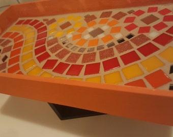 Mosaic Tile Serving Tray ( jewelry tray, decorative tray, mosaic art )