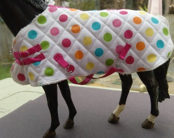 Quilted rug for model horse (Breyer Traditional size)