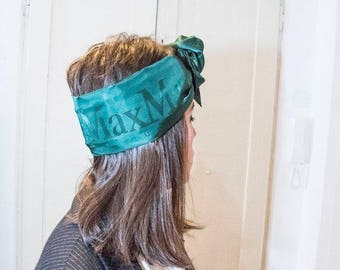 headband/turban/headband green viscose Maxmara