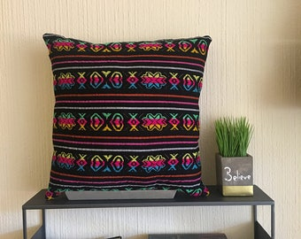 Multicolored Mexican Pillow Cover 18X18""