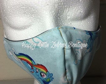 Rainbow pony  reusable washable medical face masks