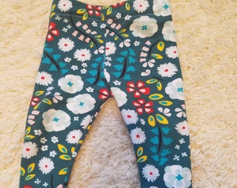 Baby and Toddler leggings- Spring flowers