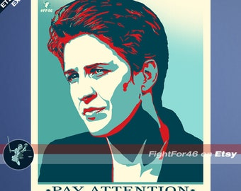 Pay Attention To What They Do  | Rachel Maddow Free Press POSTER | Hope Parody Political T-Shirt and Clothing
