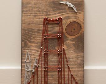 Golden Gate Bridge String Art - Free Shipping