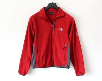 Vintage North Face Jacket Red The North Face Windbreaker The North Face Fleece Zip Up Jacket North Face Sweatshirt North Face Flight Series