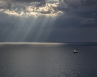 Sailboat on the Mediterranean Sea | Travel Photography | Print