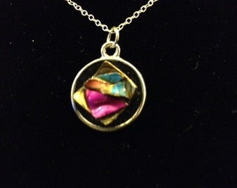 Retro Jewelry Repurposed into Funky Pendant - Edna