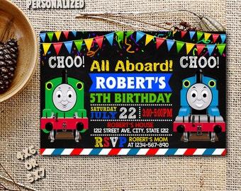 thomas the train invitation  etsy, Party invitations