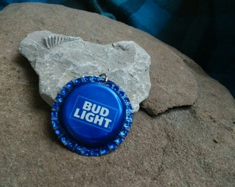 Bottle Cap Pendant - Bud Light