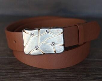 Leather Belt, Light Brown Leather Belt, Whiskey Brown Leather Belt, Mens Belt, Womens Belt