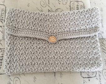 Handmade Knit Crochet Macbook 13 laptop case, laptop sleeve, crochet laptop case, crochet laptop sleeve