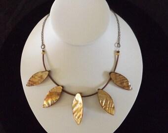 Bronze Leaf Necklace