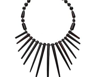 Sunburst Necklace (dark brown)