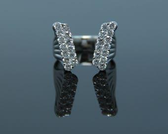 18K White Gold Statement Ring,  1.60 CTW Diamond Statement Ring