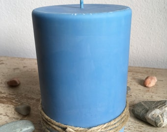 Blue Candle, Soy Candle, Pillar Candle, Soy Wax, Gift Idea, Home Decor, Decorative Candle, Scent Candle, Vegan Candle, Organic Candle