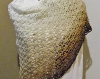 Shawl stole scarf crochet 156x83cm