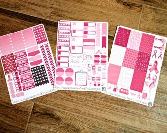 Breast Cancer Inspired Big Happy Planner Weekly Kit