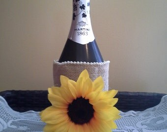 Wine Bottle Burlap Gift Wraps