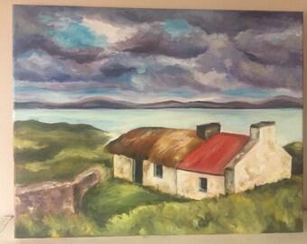 "Oil Painting on Canvas ""Scottish Landscape"""