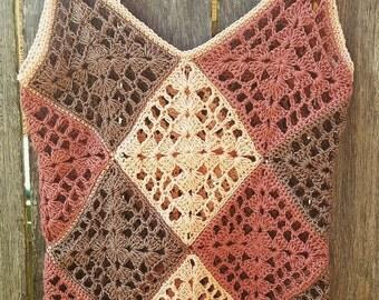 Handmade Crochet Women's Singlet Top