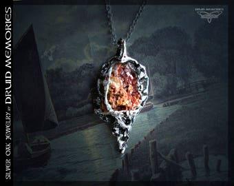 "RESERVEDVanadinite necklace ""Xirxis"" - druids jewelry, druids amulet, druids pendant, healing amulet, pagan amulet,druids necklace, druids ."