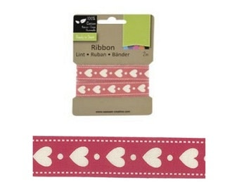 Decorative ribbon with hearts 2m (VC-6)