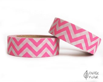 Washi tape Chevron pink/white (PY-806)