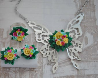"A set of jewelry ""Rose"""