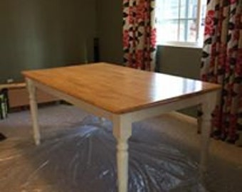 Farm House Table with 6 chairs
