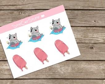 Summer Treats Printable Stickers