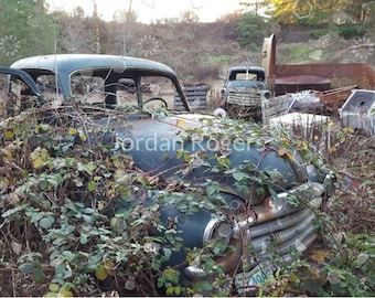 Color Photography, Abandoned Cars