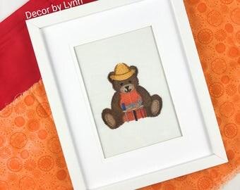Animal Nursery Art, Baby room decor, Childrens room art, Teddy Bear carpenter