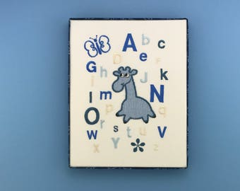 Alphabet giraffe, Baby room decor, Nursery decor