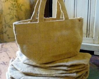 Burlap Bag - Flower Girl Basket - DIY Wedding -  Favor Bags - Gift Bags - Rustic Wedding Decor - DIY Wedding - Bridesmaid Gift - Guest Favor