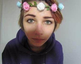 Transgender Pride Flower Crown Trans Lgbt Rainbow