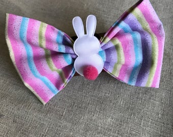 Easter Bunny Fabric Bow Set