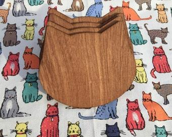 Cat Head Coasters