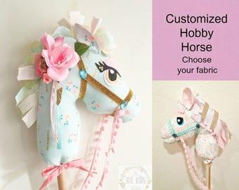 hobby horse, stick horse, unicorn stick horse