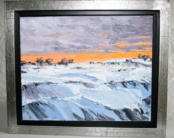 Passing Drifts by Nicole Blackburn - Framed Oil on Canvas